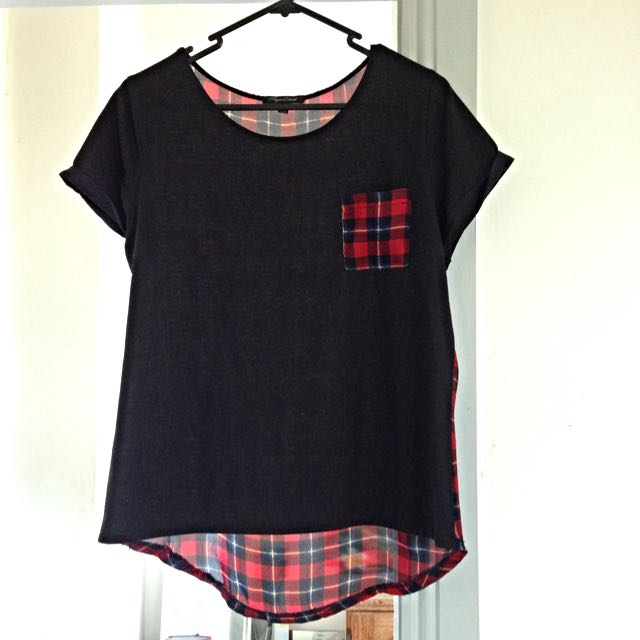 Black And Red Checkered Shirt