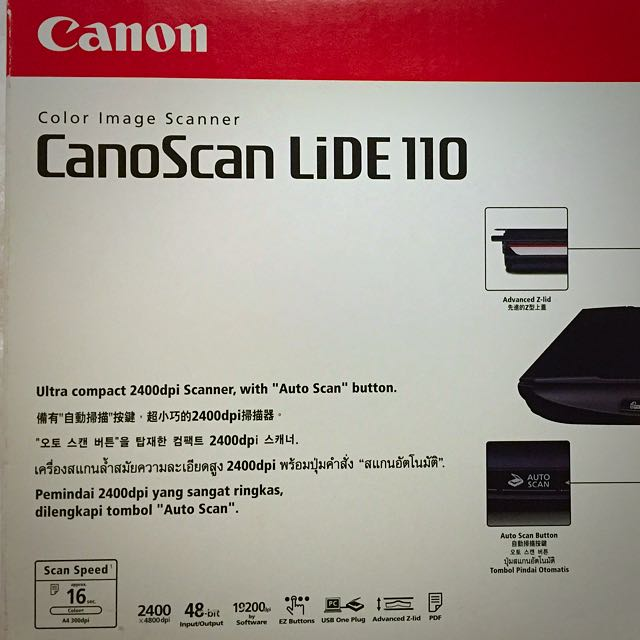 Canon Scanner LiDE 110, Electronics on Carousell