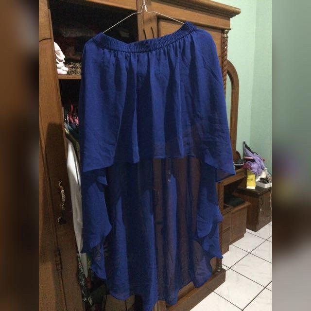 Forever 21 Electric Blue Asimetric Skirt