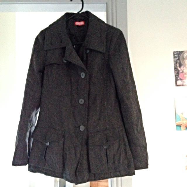 Grey Black Winter Coat