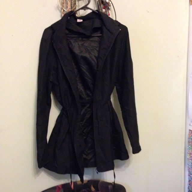 Hooded Black Over Coat