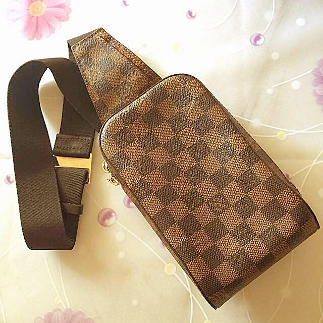 3e5501c612fb Louis Vuitton Damier Ebene Canvas Geronimos Sling Pouch For Sale ...