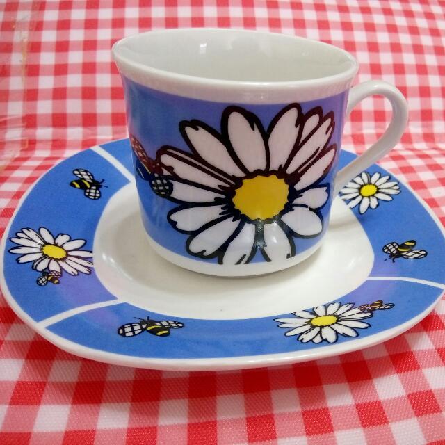 全新MOCCA 波斯橘蜜蜂 陶瓷咖啡杯