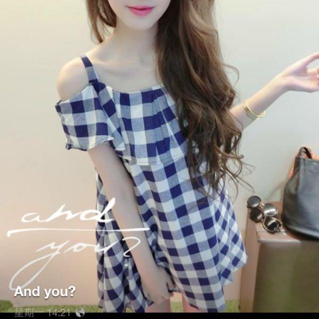 《New Closet》夏日格紋小洋裝