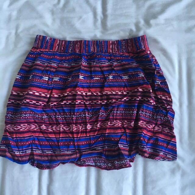 New Forever 21 Tribal Skirt
