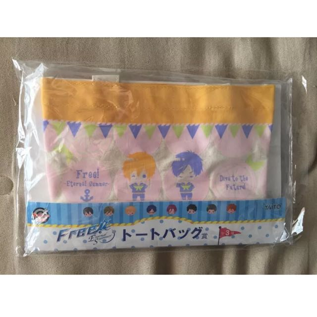 NEW Japan Free! Eternal Summer Anime TAITO LEMON Kuji Rei & Nagisa Mini Tote Bag