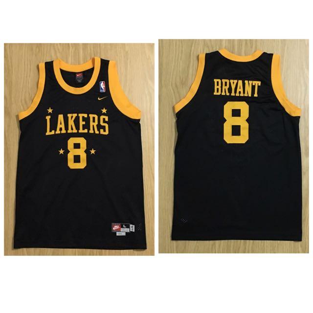 Nike Kobe 湖人 四星黑 復古球衣 NBA Lakers 籃球衣