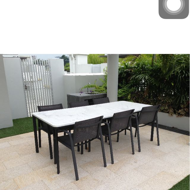 Outdoor Dinning Stone Table Set, Outdoor Stone Table And Chairs Singapore