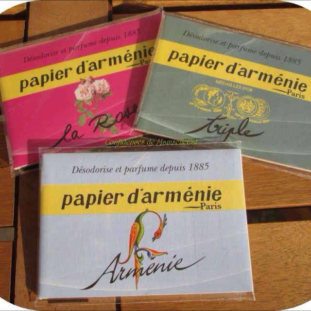 Papier D Armenie Set Of 3 Contains 1 Tradition Booklets 1 Annee Armenie Booklets And 1 La Rose Booklets Pre Order Furniture On Carousell