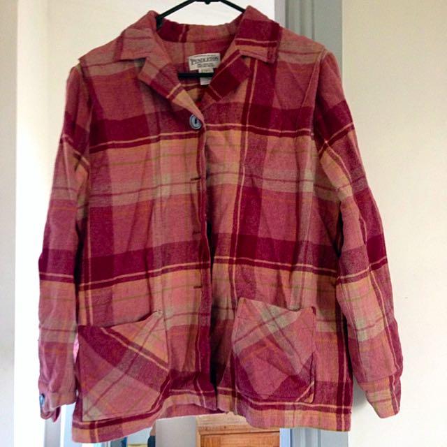 Pendleton Wool Plaid Jacket