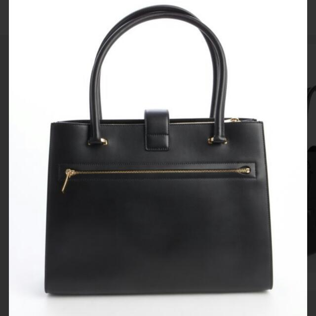 Salvatore Ferragamo Black Leather Top Handle Bag