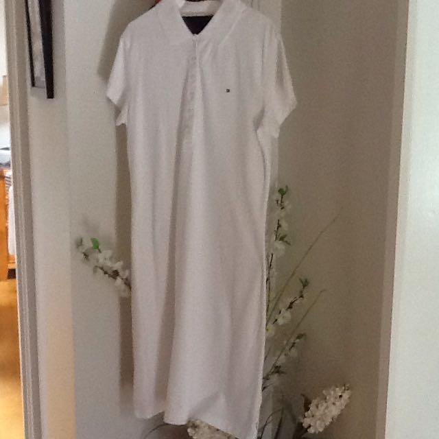 TOMMY HILFIGER DRESS WHITE Size Large
