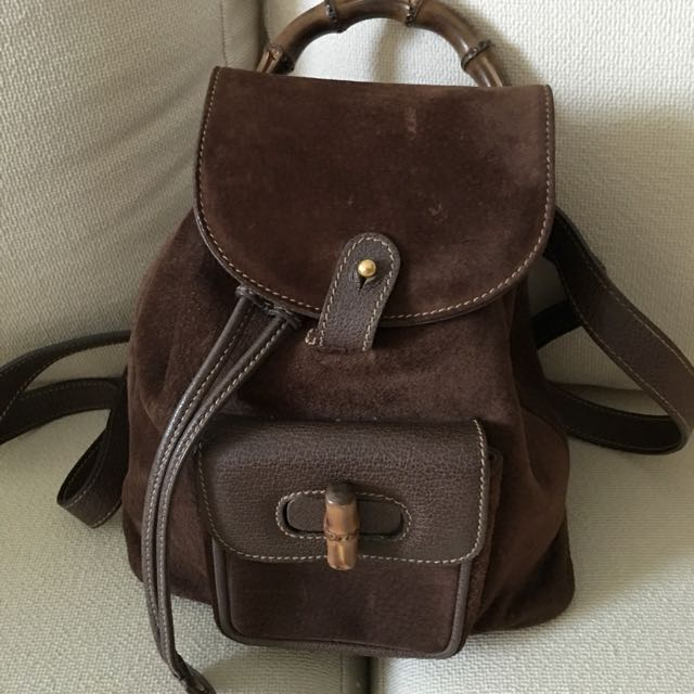 SALE   250   Vintage Gucci Bamboo Mini Backpack, Luxury on Carousell 55513e817b