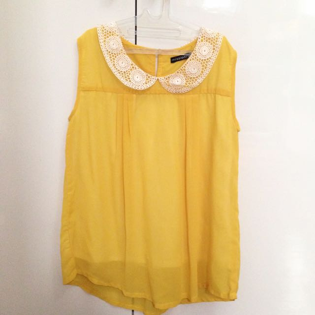 Yellow Embroidery Collar