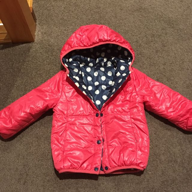 zara Reversible down jacket 18-24months