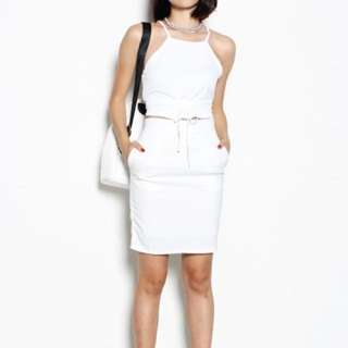 YHF // CHECK ME OUT SKIRT IN WHITE