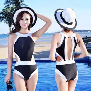 {PO} Chanel Inspired Classy Sporty Swimsuit