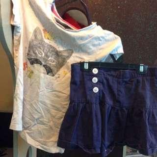 Kids T Shirt And A Skirt