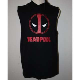 DEAD POOL SLEEVELESS HOODY