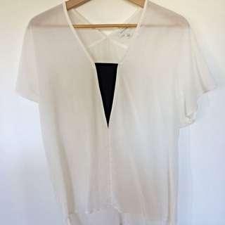 Witchery White Silk Top