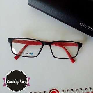 Frame Kacamata Steppers 10039 Black Red Original