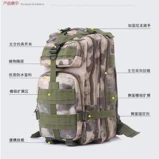 韓版迷彩背包雙肩包後背包書包戰術背包