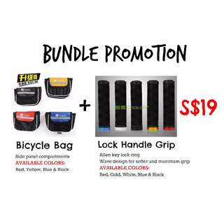 BUNDLE PROMOTION - Cooloh Bicycle Bag + Cooloh Lock Handle Grip