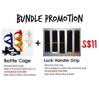 BUNDLE PROMOTION - Bottle Cage + Cooloh Lock Handle Grip