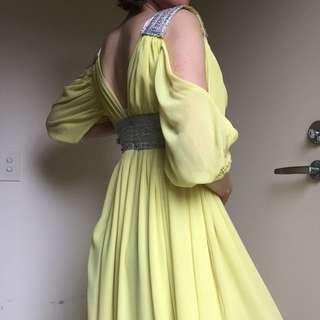 Lemon Yellow Maxi Dress
