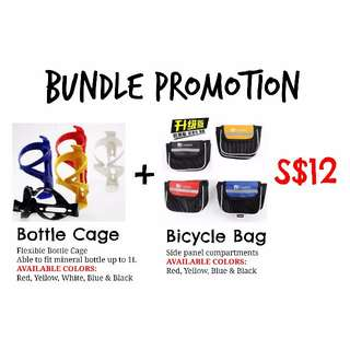 BUNDLE PROMOTION - Bottle Cage + Cooloh Bicycle Bag