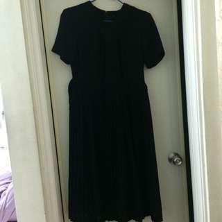 復古黑色氣質長裙