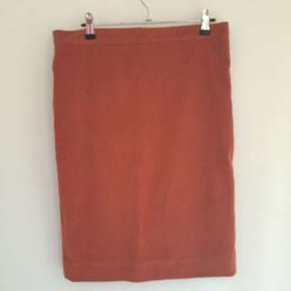 Suede Orange Highwaisted Skirt