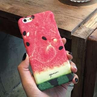 超逼真西瓜圖案搞笑風格iPhone6Plus手機殼