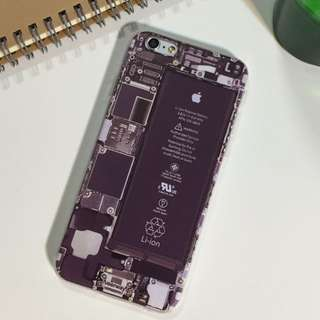 IPHONE惡搞無蓋/手機面板/透視風格手機殼