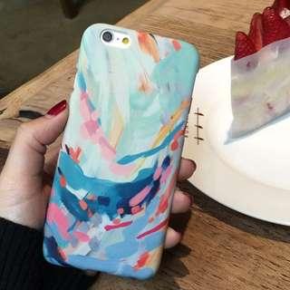 水墨塗鴉蘋果6s手機殼iPhone6
