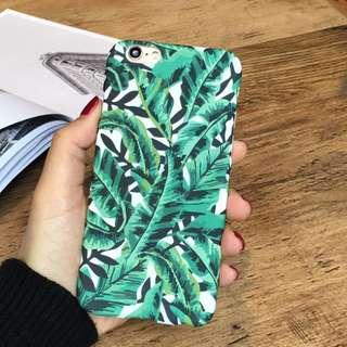 原創小清新文藝複古葉子iPhone6s plus手機殼