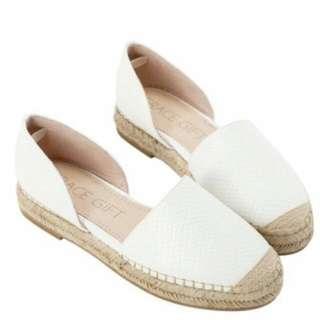 草編 懶人鞋