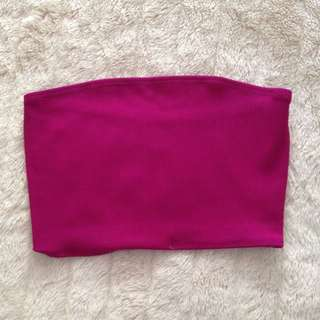 American Apparel Strapless Tube Crop Top