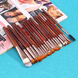 TOP Quality Professional 20 PCS Cosmetic Facial Make up Brush Kit Wool Makeup Brushes Tools Set