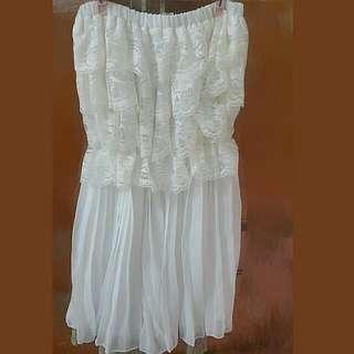 蕾絲平口洋裝<含運費>