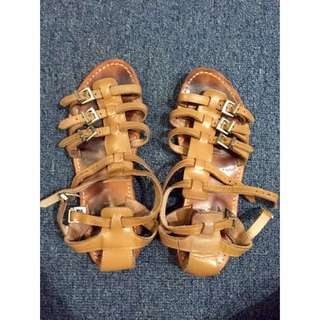 Gladiator Brown Sandals
