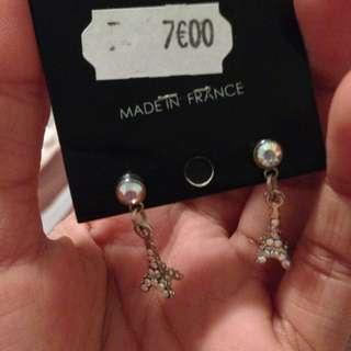 Eiffel tower Earrings W/ Swarovski Crystals