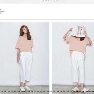 全新 寬褲 白色 寬褲 白寬褲