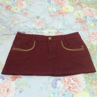 全新/紅色牛仔裙 M碼