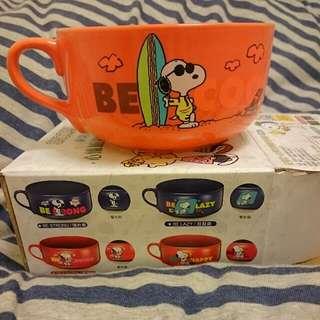 Snoopy心情加熱變色杯碗--帥氣款
