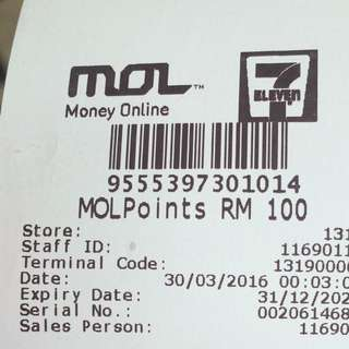 Mol Points Rm100