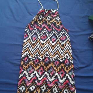 Halter Bareback Dress. Ethnic/Aztec/Boho Dress