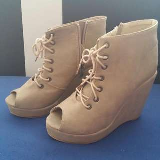 Boots Wedges Open Toe