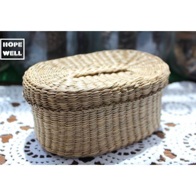 海島風 手工 小籐籃 $380 (橢圓),藤編收納盒。紐西蘭帶回