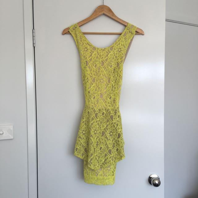 August St Peplum Dress
